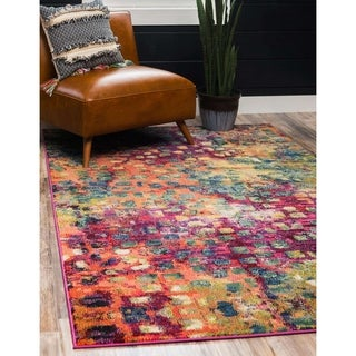 Unique Loom Barcelona Multicolor Polypropylene Area Rug (9' x 12')