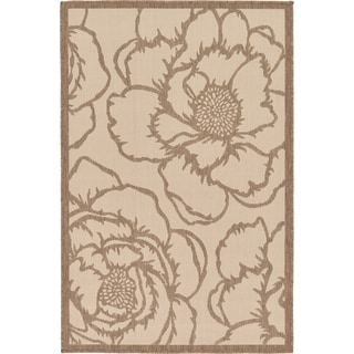 Beige Polypropylene Indoor/Outdoor Rug (3'2 x 4'11)