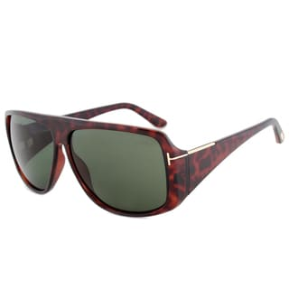 Tom Ford Harley FT0433 52N Dark Havana Green Lens Unisex Sunglasses