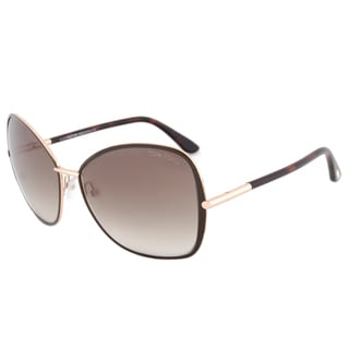 Tom Ford Solange FT0319 28F Rose Gold/Brown Frame Brown Gradient Lens Women's Sunglasses