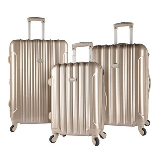 Kensie Metallic 3-piece Expandable Hardside Spinner Luggage Set (3 options available)