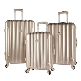 Kensie Metallic 3-piece Expandable Hardside Spinner Luggage Set
