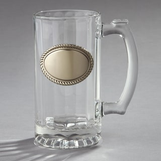 Elegance Glass Beer Stein with Engraving Plate