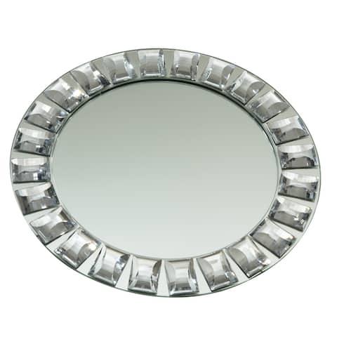 "Heim Concept Diamond Rim Mirror Charger Plate, 13"" dia."