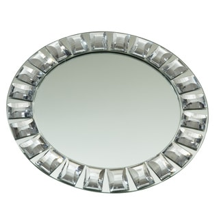 "Elegance Diamond Rim Mirror Charger Plate, 13"" dia."