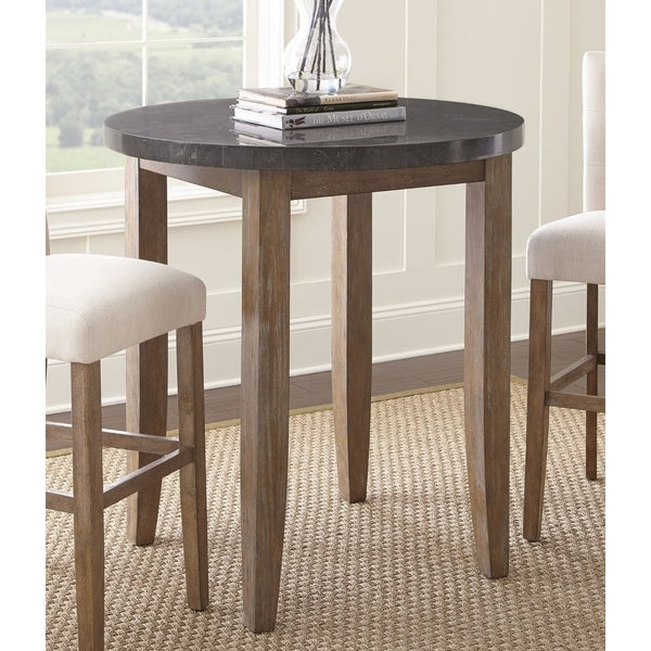 Danni 40 inch round stone top pub table by greyson living free danni 40 inch round stone top pub table by greyson living watchthetrailerfo