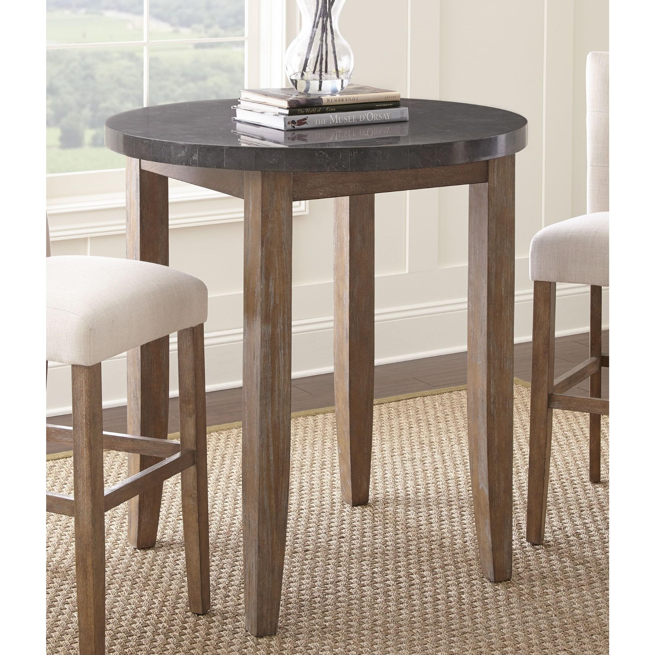 Shop Danni 40 Inch Round Stone Top Pub Table By Greyson