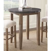 The Gray Barn Overlook 40-inch Round Stone Top Pub Table