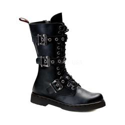 Men's Demonia Defiant 303 Boot Black Vegan Leather