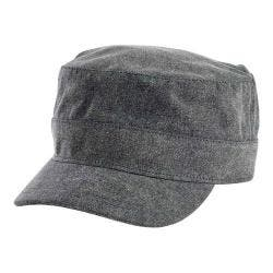 San Diego Hat Company Distressed Polyester Twill Military Cap CTH8060 Black|https://ak1.ostkcdn.com/images/products/134/357/P20282554.jpg?impolicy=medium