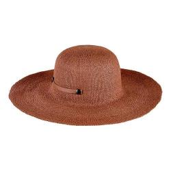 Women's San Diego Hat Company Packable Paper Sun Brim Hat with Tab PBL3079 Brown