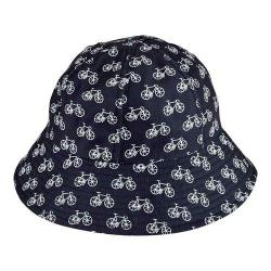 Women's San Diego Hat Company Water Repellant Bucket Hat CTH8055 Black/White