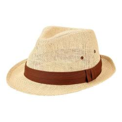Men's San Diego Hat Company Woven Paper Fedora PBF7309 Natural