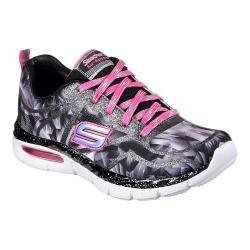 Girls' Skechers Air Appeal Glitztastic Trainer Black/Pink