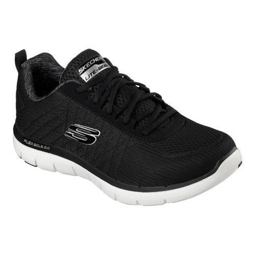 newest 811c4 845ba Men  x27 s Skechers Flex Advantage 2.0 Training Shoe The Happs Black White
