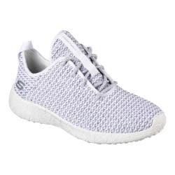Women's Skechers Burst City Scene Casual Sneaker White/Gray
