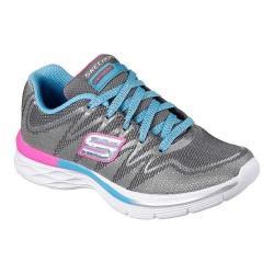 Girls' Skechers Dream N Dash Sneaker Charcoal/Turquoise