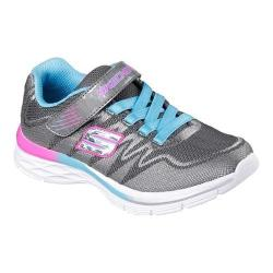 Girls' Skechers Dream N Dash Whimsy Girl Sneaker Charcoal/Turquoise