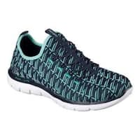 Women's Skechers Flex Appeal 2.0 Insights Walking Sneaker Navy/Green