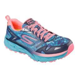 Women's Skechers GOtrail Ultra 3 Climate Series Running Shoe Navy/Teal