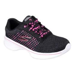 Girls' Skechers GOwalk 4 Exceed Walking Shoe Black/Hot Pink