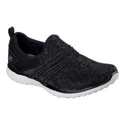 Women's Skechers Microburst Under Wraps Walking Sneaker Black/White