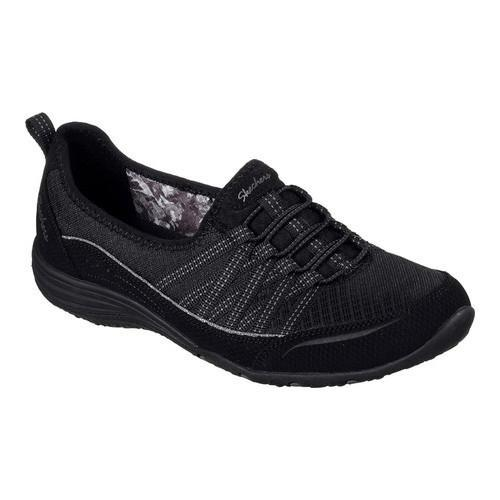 Skechers Unity Go Big Womens Slip On Sneakers Black 9 W