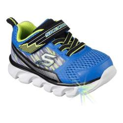Boys' Skechers S Lights Hypno-Flash Sneaker Blue/Lime