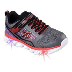 Boys' Skechers S Lights Hypno-Flash Sneaker Charcoal/Red