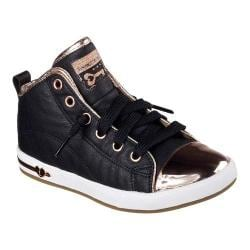 Girls' Skechers Shoutouts Blingy Toes High Top Black/Rose Gold