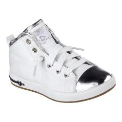 Girls' Skechers Shoutouts Blingy Toes High Top White/Silver