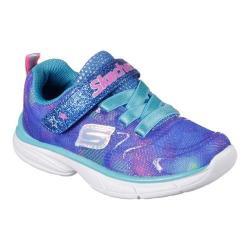 Girls' Skechers Spirit Sprintz Rainbow Rah Walking Sneaker Blue/Multi