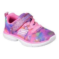 Girls' Skechers Spirit Sprintz Rainbow Rah Walking Sneaker Neon Pink/Multi