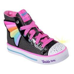 Girls' Skechers Twinkle Toes Shuffles Wander Wings High Top Black/Multi