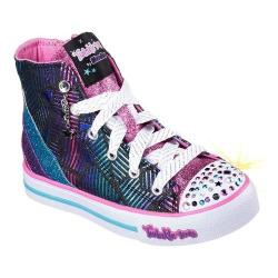 Girls' Skechers Twinkle Toes Step Up Glitzy Kicks High Top Black/Multi