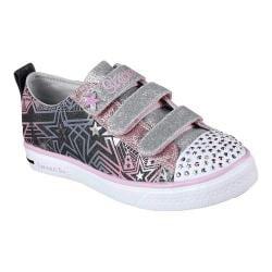 Girls' Skechers Twinkle Toes Twinkle Breeze Comet Cutie Sneaker Black/Pink