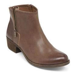 Women's Lucky Brand Boom Bootie Nutmeg Leather