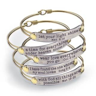Sweet Romance Of the Spirit Inspirational Bible Verse Bracelets|https://ak1.ostkcdn.com/images/products/13400054/P20096037.jpg?impolicy=medium