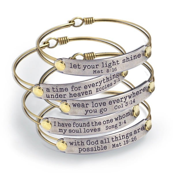Sweet Romance Of the Spirit Inspirational Bible Verse Bracelets