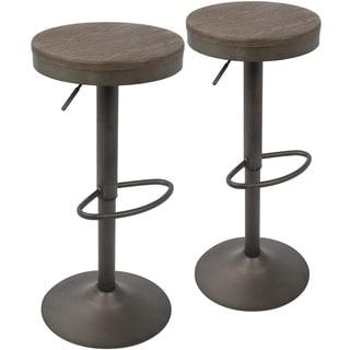 Dakota Industrial Adjustable Barstool / Counter Stool (Set of 2)