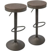Oliver & James Ilya Industrial Adjustable Barstool (Set of 2)