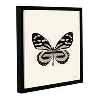 Debra VanSwearington's 'Butterfly VIII BW' Gallery Wrapped Floater-framed Canvas