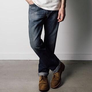 1791 Supply & Co Men's Rough and Tumble Blue Denim Straight Leg Jeans