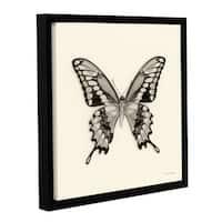 Debra VanSwearington's 'Butterfly VI BW' Gallery Wrapped Floater-framed Canvas