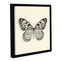 Debra VanSwearington's 'Butterfly V BW' Gallery Wrapped Floater-framed Canvas