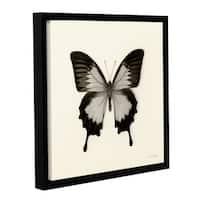 Debra VanSwearington's 'Butterfly III BW' Gallery Wrapped Floater-framed Canvas