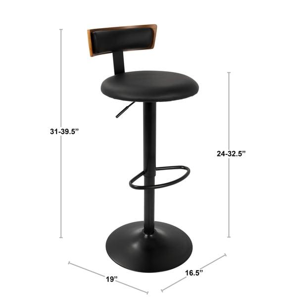 LumiSource Weller Contemporary Adjustable Bar Stool
