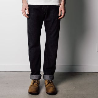 1791 Supply & Co Men's Dark Wash Cotton Denim Button-fly Jeans