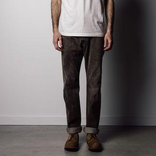 Men's Brown Denim Desert Rinse Straight-leg Jeans