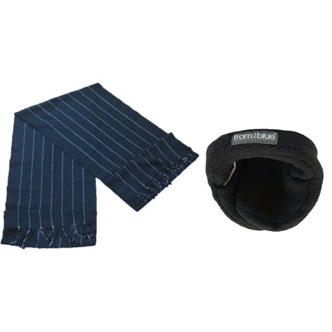 Bon Bonito Men's Soft Scarf and Adjustable Ear Warmer Set